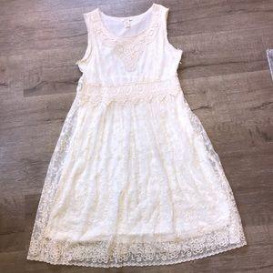 Women's Sz 12 Sundance Ivory crotchet/lace dress